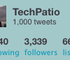 Thumbnail image for TechPatio Reaches 1000 Tweets on Twitter & 200 RSS Subscribers
