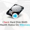 Thumbnail image for Check Hard Disk RAID Health Status On Windows
