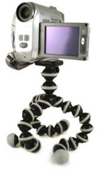 Joby Gorillapod with video camcorder