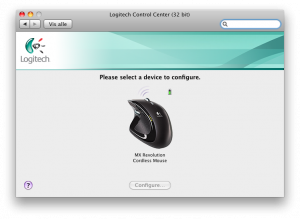 Logitech Control Center - MX Revolution